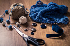 Tools for knitting Royalty Free Stock Photo