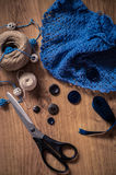 Tools for knitting Stock Images