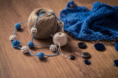 Tools for knitting Royalty Free Stock Images