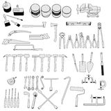 Tools - large collection Stock Images