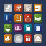 Tools learning colorful icon stock illustration