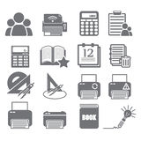 Tools learning  icon set 4 Royalty Free Stock Photo