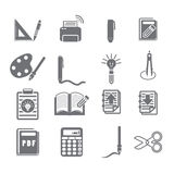 Tools learning  icon set 3 Royalty Free Stock Image