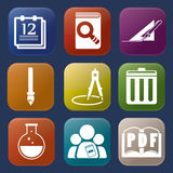 Tools learning  icon Stock Images