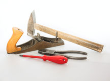 Tools on a light background Royalty Free Stock Photos