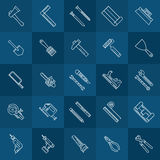 Tools line icons Royalty Free Stock Image