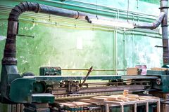 Tools in local wood and furniture factory stock photos