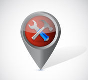 Tools locator illustration design Stock Image