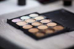 Tools for make-up artist stock image