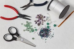 Tools for making beads at home royalty free stock photo