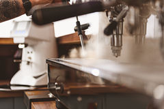 Tools for making espresso and other beverages Stock Photos