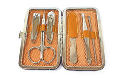 Tools of a manicure set Stock Images