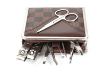 Tools of a manicure set Royalty Free Stock Photography