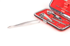 Tools of a manicure set Royalty Free Stock Image