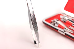 Tools of a manicure set Royalty Free Stock Photo