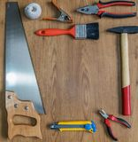 Tools for manual Arts & Crafts. Several Tools for manual Arts & Crafts Stock Photography