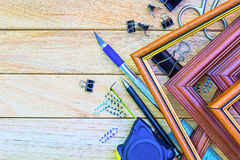 Tools and materials for decoration paintings Stock Image