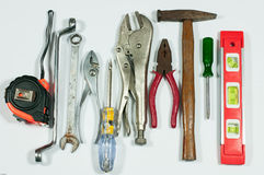 Tools measuring. Tools industry measuring on white background Royalty Free Stock Photo