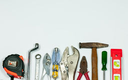 Tools measuring. Tools industry measuring on white background Royalty Free Stock Photography
