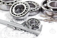 Tools and mechanisms detail Royalty Free Stock Images