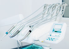 Tools and modern technologies in the dental office. Dental tools and modern technologies in the dental office Stock Photography