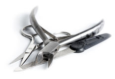Tools for nail care (Manicure measures)  Stock Photo