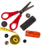 Tools for needlework thread scissors Stock Photos