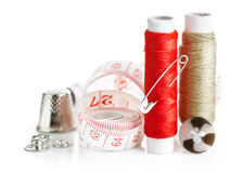 Tools for needlework thread and tape measure Stock Images