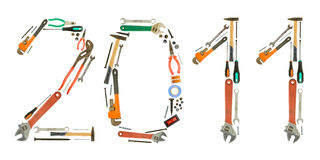 Tools numbers Royalty Free Stock Image