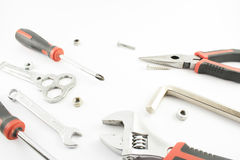 Tools, nuts and bolts. Royalty Free Stock Image