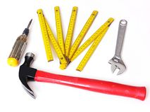 Tools over white. Royalty Free Stock Photography
