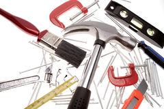 Tools over white Stock Image