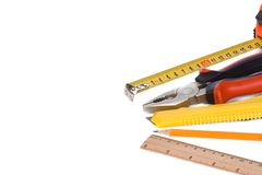 Tools over white background Royalty Free Stock Image