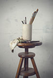 Tools of the painter. Old tools of the painter Royalty Free Stock Photos