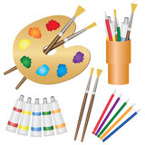 Tools for paintings. Royalty Free Stock Image