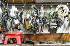 Tools Panel in mechanic Shop Royalty Free Stock Image