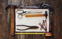 Tools and paper Royalty Free Stock Image