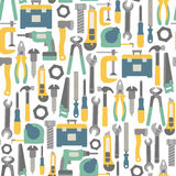 Tools pattern. Seamless pattern with tools icons Royalty Free Stock Photography