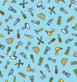 Tools pattern Royalty Free Stock Image
