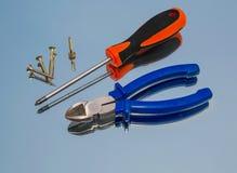 Tools, pliers, screwdriver Stock Photo