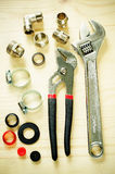 Tools plumbing Royalty Free Stock Images