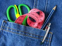 Tools in pocket Royalty Free Stock Image