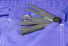 Tools pocket Royalty Free Stock Photos