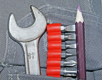 Tools in pocket Royalty Free Stock Images