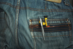 Tools In A Pocket Royalty Free Stock Photos