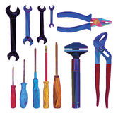 Tools polygon design Stock Images