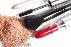 Tools and products for makeup Stock Photo