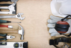 Tools and the protective equipment royalty free stock images