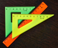 Tools pupil geometry for drawing   diagrams. Royalty Free Stock Image