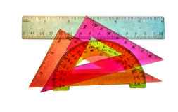 Tools pupil geometry Stock Photo